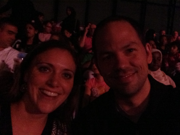 Matt and I at Cirque du Soleil: Dralion