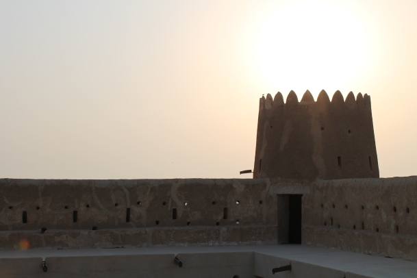 Dusk at the fort
